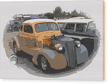 1937 Chevy Coupe Wood Print by Steve McKinzie
