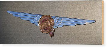 1937 Chrysler Airflow Emblem Wood Print by Gordon Dean II