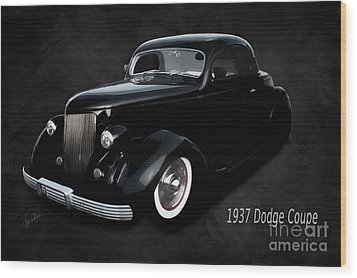 1937 Dodge Coupe  Wood Print by Anne Kitzman