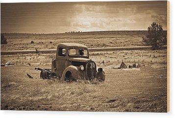 1938 Ford Pickup Wood Print by Steve McKinzie