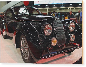 1938 Talbot Lago T150-c Speciale Teardrop Coupe . 7d9307 Wood Print by Wingsdomain Art and Photography