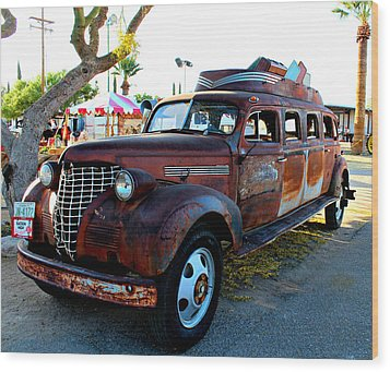 Wood Print featuring the photograph 1939 Chevy Sedan Limo by Jo Sheehan