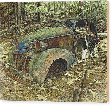 1939 Pontiac Wood Print by Robert Hinves