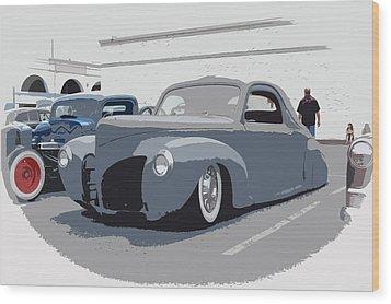 1940 Lincoln Wood Print by Steve McKinzie