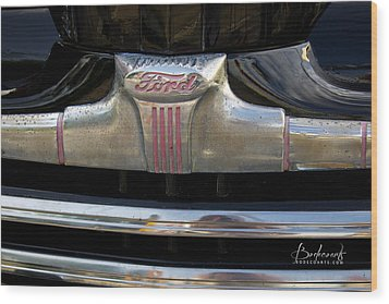 1940s Ford Grill Wood Print by Robin Lewis