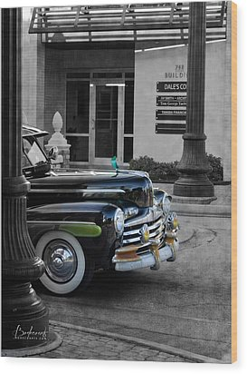 1940s Ford Out Of The Past Wood Print by Robin Lewis
