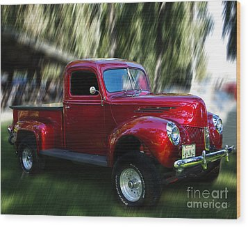 1941 Ford Truck Wood Print by Peter Piatt