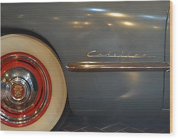 1942 Cadillac - Series 62 Sedanette Fastback Wood Print by Michelle Calkins