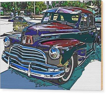 1946 Chevrolet Wood Print by Samuel Sheats