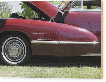 1947 Cadillac . 5d16181 Wood Print by Wingsdomain Art and Photography