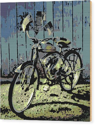 1947 Whizzer Wood Print by George Pedro