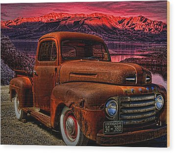 1948 Ford Pickup Truck Wood Print by Tim McCullough