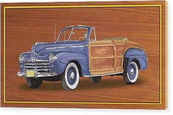 1948 Ford Sportsman Convert. Wood Print by Jack Pumphrey