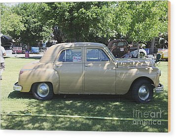 1949 Plymouth Delux Sedan . 5d16208 Wood Print by Wingsdomain Art and Photography