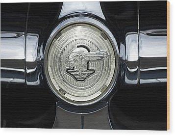 1950 Pontiac Grille Emblem 2 Wood Print by Jill Reger