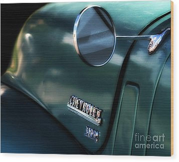 1950s Chevy 3100 Pickup Truck Wood Print by Steven Digman