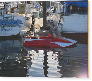 Wood Print featuring the photograph 1950's Custom Hydroplane by Kym Backland