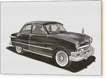 1951 Ford 2 Dr Sedan Wood Print by Jack Pumphrey