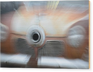 1951 Studebaker Abstract Wood Print by Randy J Heath