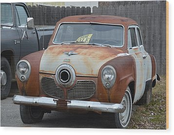 1951 Studebaker Wood Print by Randy J Heath