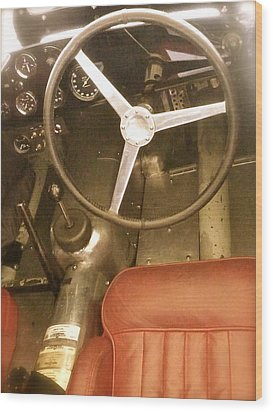 1952 Aston Martin Db3 Cockpit Wood Print by John Colley
