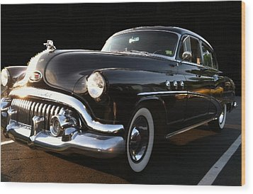 Wood Print featuring the photograph 1952 Buick In Black by Elizabeth Coats