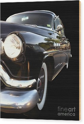 Wood Print featuring the photograph 1952 Buick Side View by Elizabeth Coats