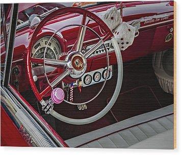 1953 Ford Crestline Victoria Wood Print by Susan Candelario