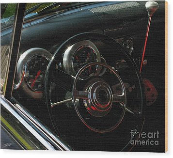 1953 Mercury Monterey Dash Wood Print by Peter Piatt