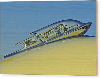 1953 Plymouth Hood Ornament 2 Wood Print by Jill Reger
