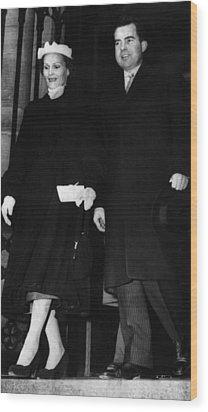 1953 Us Presidency.  Second Lady Wood Print by Everett