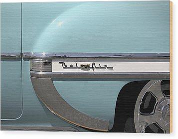 1954 Chevy Belair Wood Print by Mike McGlothlen