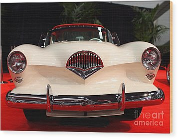 1954 Kaiser Darrin Roadster . 7d9182 Wood Print by Wingsdomain Art and Photography