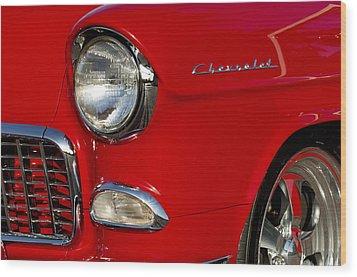 1955 Chevrolet 210 Headlight Wood Print by Jill Reger