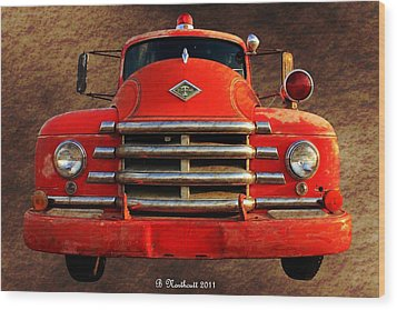 1955 Diamond T Grille - The Cadillac Of Trucks Wood Print by Betty Northcutt