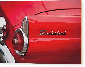 1955 Ford Thunderbird Wood Print by David Patterson