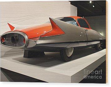 1955 Ghia Streamline X Gilda Concept Car - 7d17263 Wood Print by Wingsdomain Art and Photography