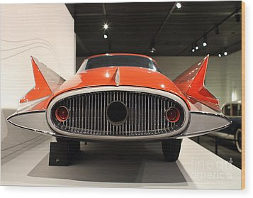 1955 Ghia Streamline X Gilda Concept Car - 7d17264 Wood Print by Wingsdomain Art and Photography