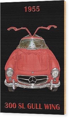 1955 Mercedes Benz 300sl Gull Wing  Wood Print by Jack Pumphrey