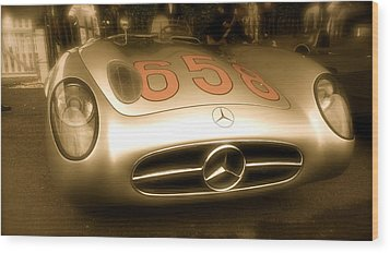 1955 Mercedes Benz 300slr Fangio Wood Print by John Colley