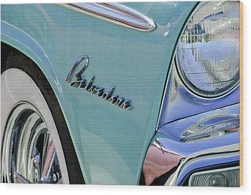 1955 Plymouth Belvedere Emblem Wood Print by Jill Reger