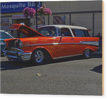 1957 Belair Wagon Wood Print by Tikvah's Hope