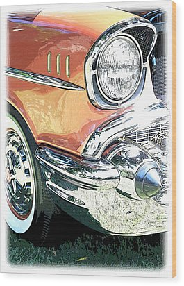 1957 Chevy Wood Print by Steve McKinzie