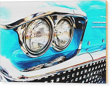 Wood Print featuring the digital art 1958 Buick by Tony Cooper
