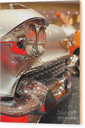 1958 Cadillac Eldorado Biarritz Convertible . Silver . 7d9427 Wood Print by Wingsdomain Art and Photography