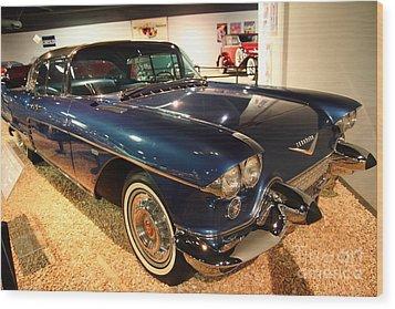 1958 Cadillac Eldorado Series 70 Brougham Wood Print by Wingsdomain Art and Photography