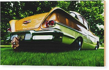 1958 Chevrolet Delray Wood Print by Phil 'motography' Clark