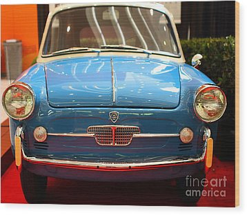 1959 Autobianchi Bianchina Transformabile . Front View Wood Print by Wingsdomain Art and Photography