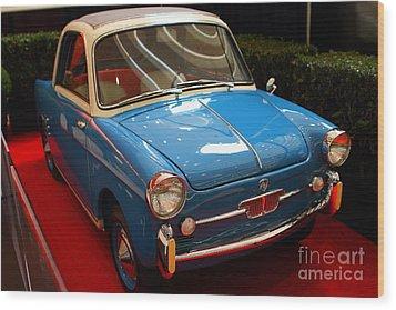 1959 Autobianchi Bianchina Transformabile Wood Print by Wingsdomain Art and Photography