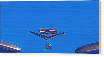 1960 Chevy Bel Air Trunk Emblem Wood Print by Bill Owen
